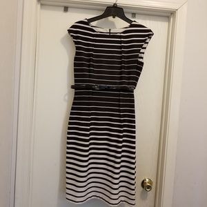 Connected Apparel Black and White Dress Size 8